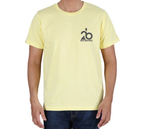 Embroidered Cotton Crew Neck T Shirt Light Yellow